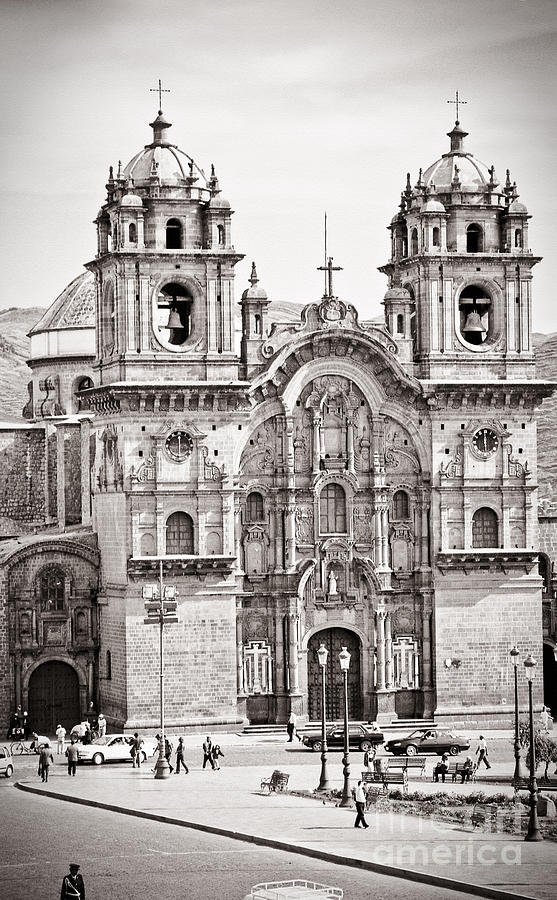 35mm Photograph - Cusco Cathedral by Darcy Michaelchuk