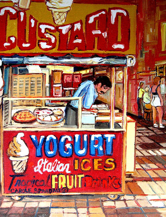 Custard Cart Painting - Custard Cart by Carole Spandau