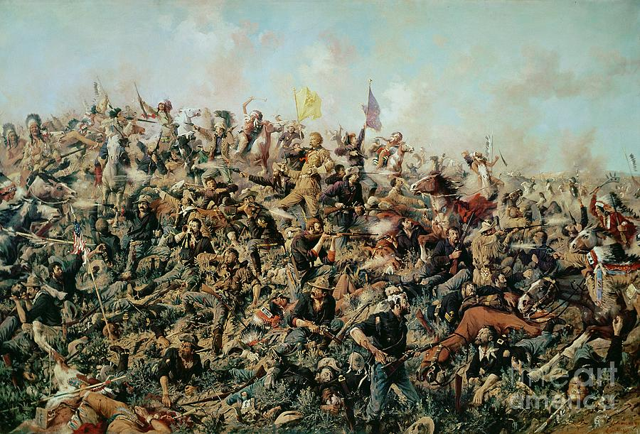 Custer S Last Stand Painting By Edgar Samuel Paxson