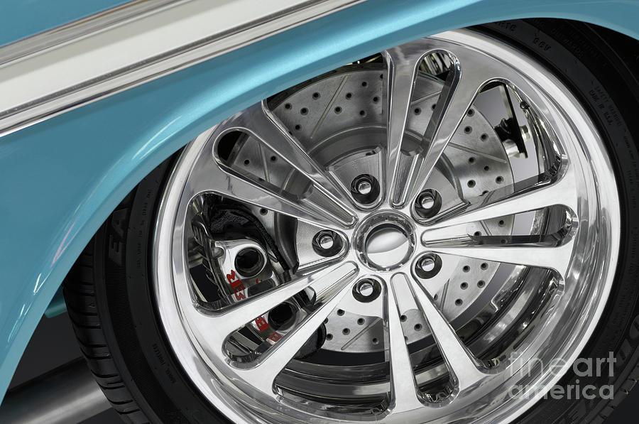 Wheel Photograph - Custom Car Wheel by Oleksiy Maksymenko