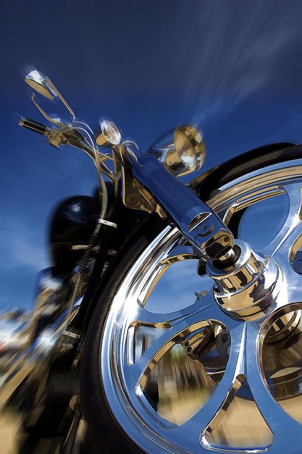 Motorcycle Photograph - Custom Chopper by Ricky Barnard