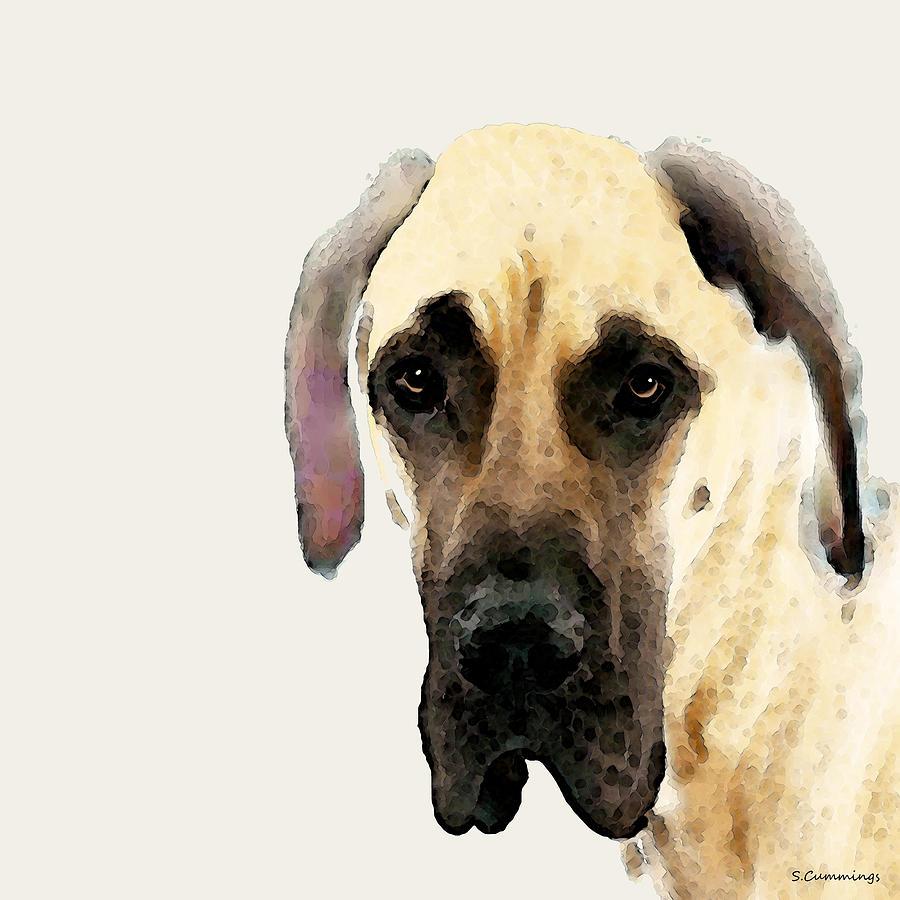 Great Dane Painting - Custom Great Dane Art by Sharon Cummings