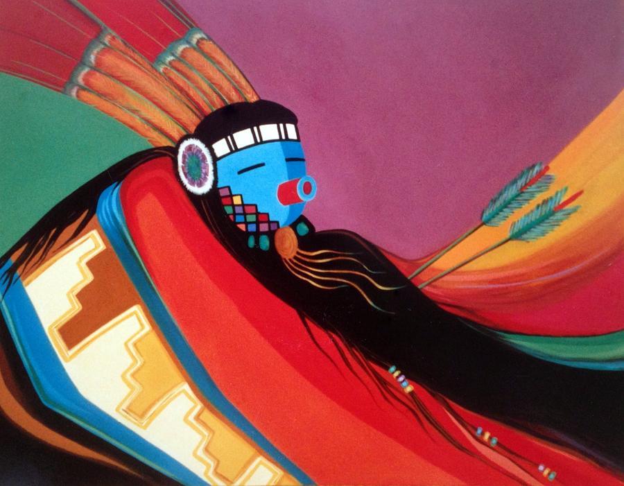 Kachina Painting - Custom Kachina by Marlene Burns