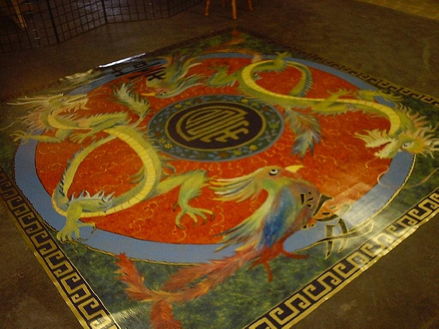 Custom Vinyl Floor Art Painting by Chana Meeks