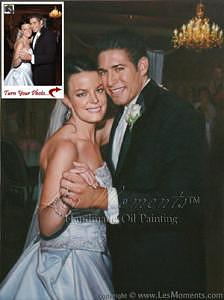 Oil Painting Painting - Custom Wedding Oil Painting Based On Your Photo by Les Moments