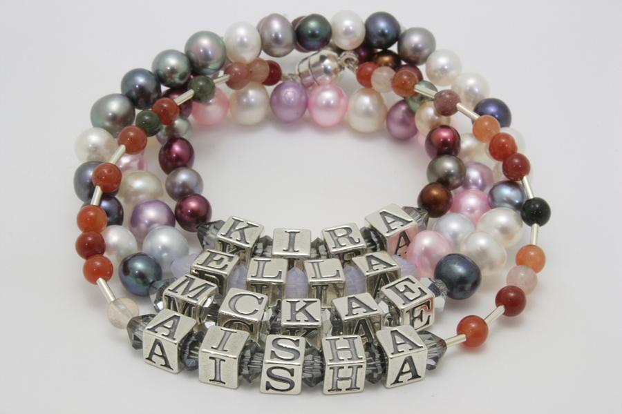 Bracelet Jewelry - Customized Name Bracelets by Jerri Nielsen