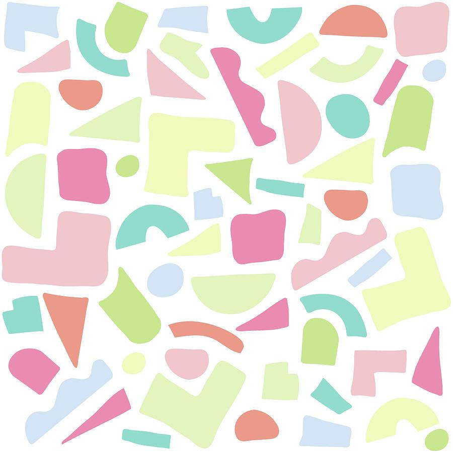 Baby Digital Art - Cut paper pastel by Lori Dunn