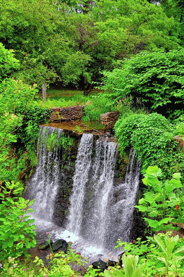 Waterfall Photograph - Cuttalossa Falls New Hope Pa by James DeFazio