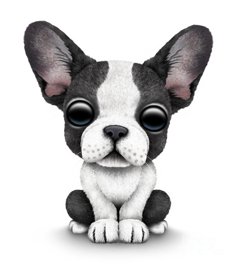 French Bulldog Digital Art Cute Puppy By Jeff Bartels