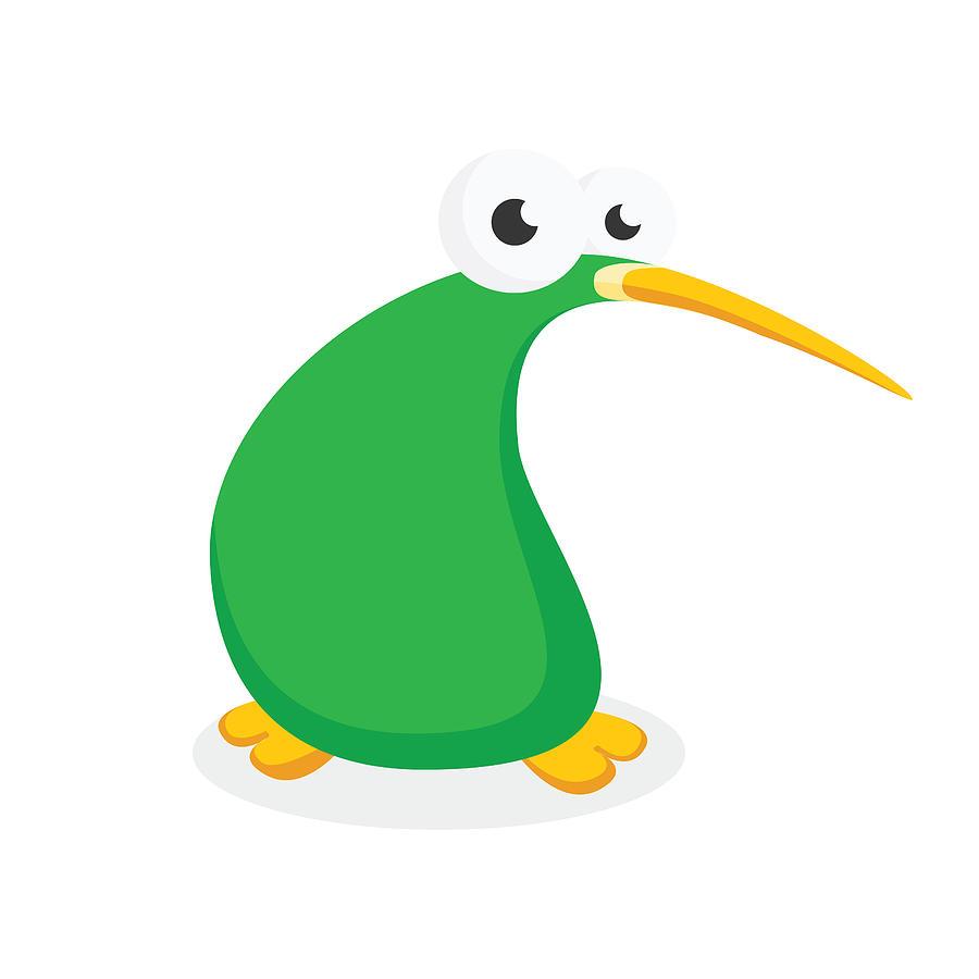 Cute Kiwi Bird Cartoon