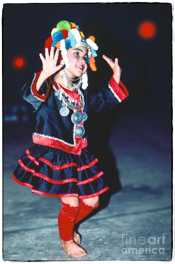 Cute Little Thai Girl Dancing Photograph