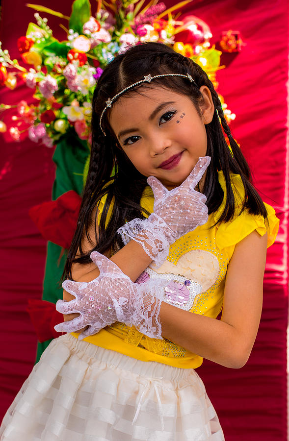Cute Thai Girl. Photograph by John Greene