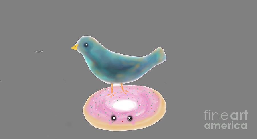 kawaii donut and blue bird  by REINA RESTO