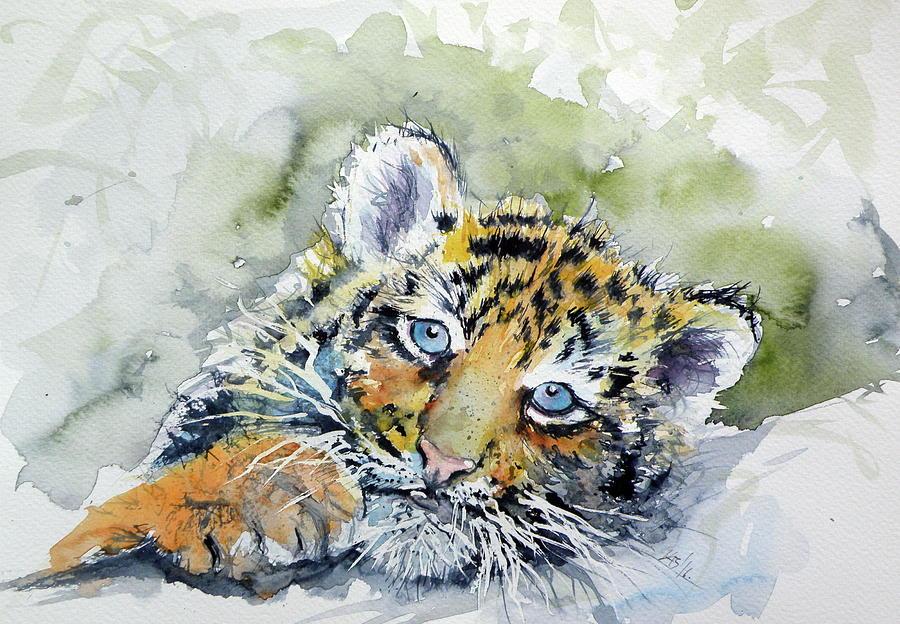 Cute tiger cub painting by kovacs anna brigitta cute painting cute tiger cub by kovacs anna brigitta altavistaventures Images
