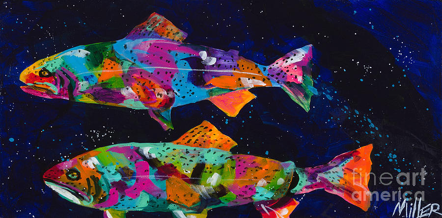 Tracy Miller Painting - Cutthroats by Tracy Miller