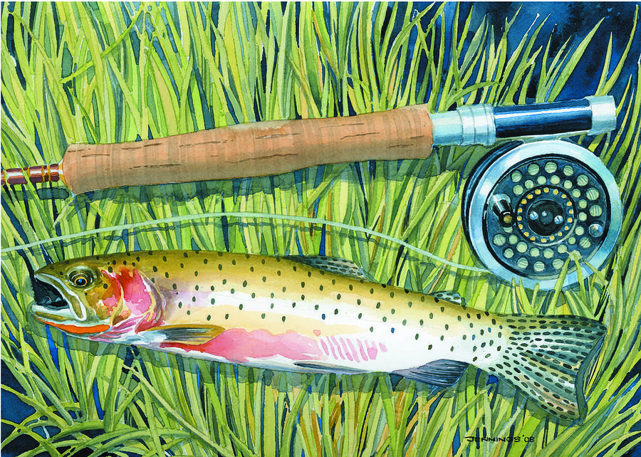 Fish Painting - Cuttin The Grass by Mark Jennings
