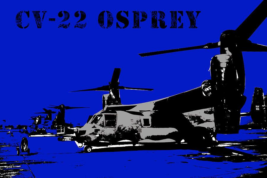Hurlburt Digital Art - Cv-22 Osprey  by John Bainter