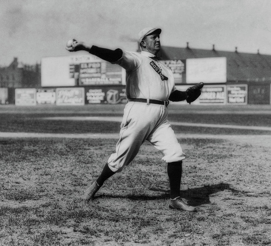 Old Photographs Photograph - Cy Young With The Boston Americans 1908 by Library Of Congress