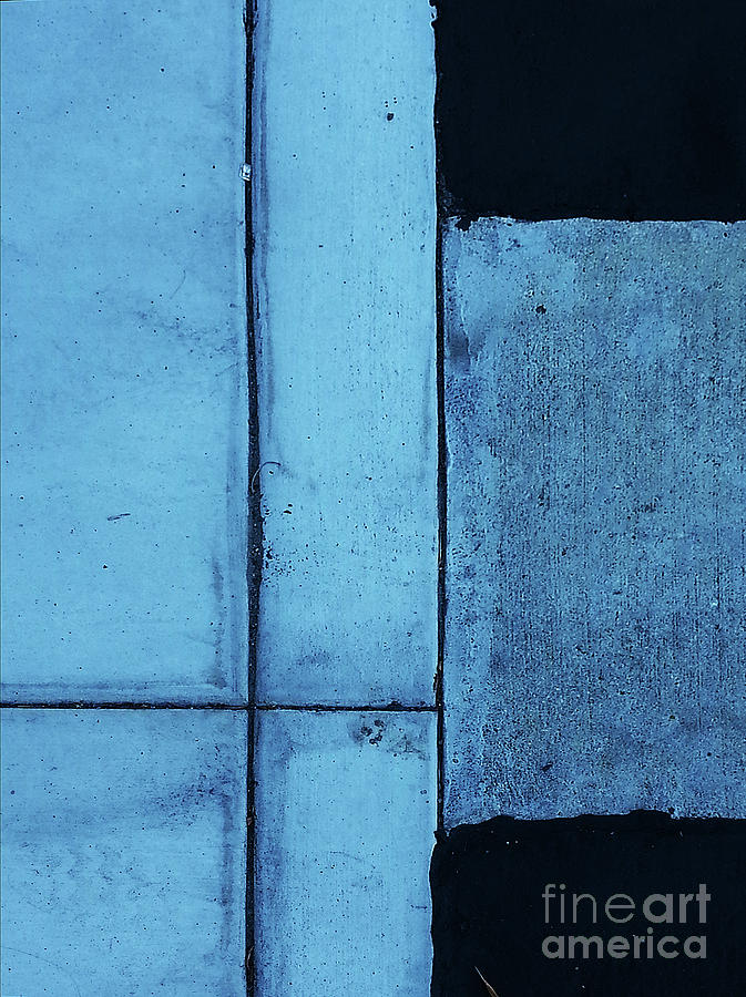 Abstract Photograph - Cyan by Fei A