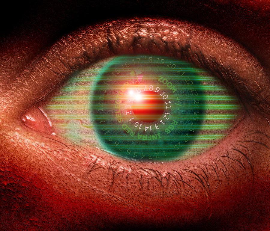 Eye Photograph - Cybernetic Eye by Victor Habbick Visions