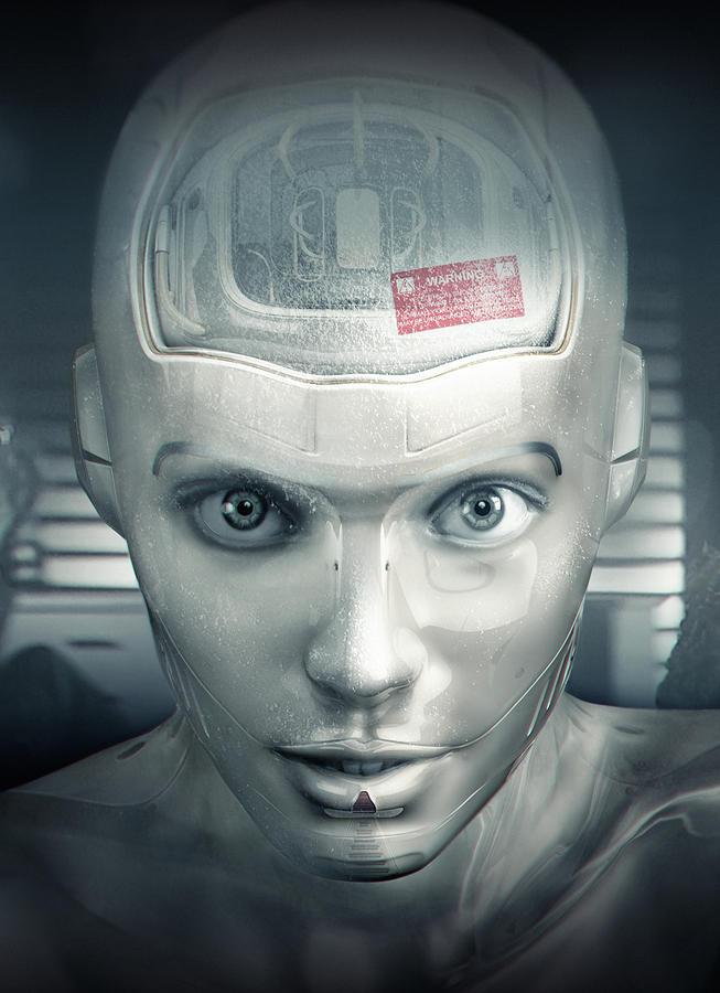 Cyborg Digital Art - Cyborg by Joe Roberts