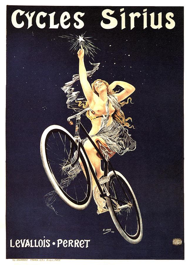 Vintage Mixed Media - Cycles Sirius - Bicycle - Vintage French Advertising Poster by Studio Grafiikka