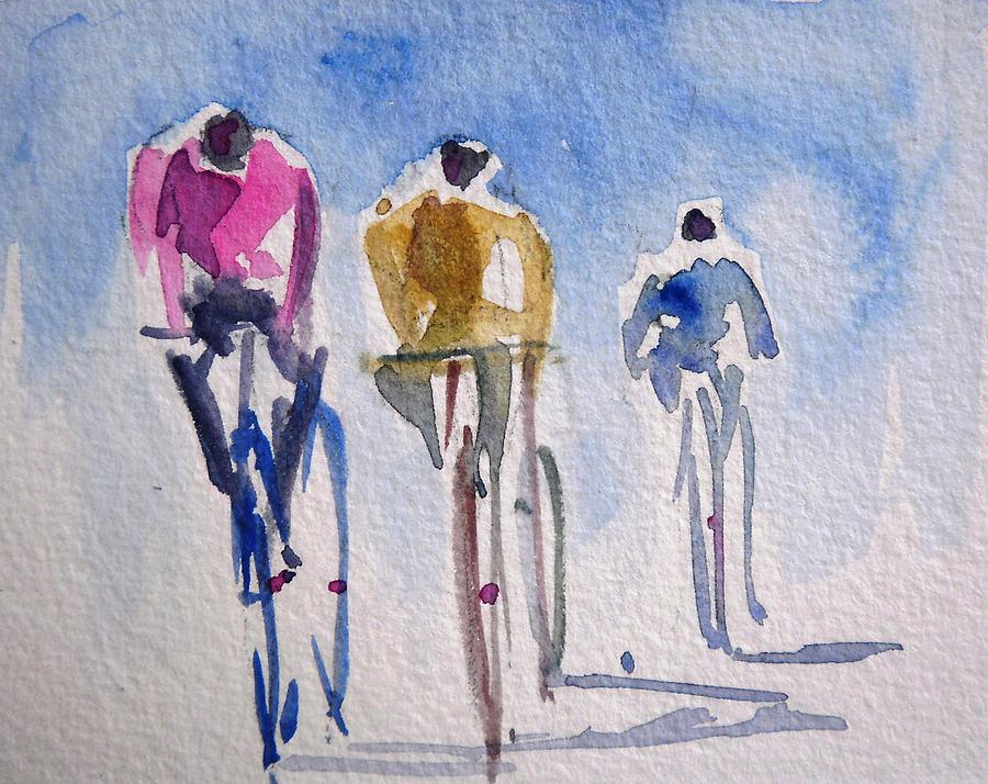 Fresh Cycling Figures Painting by Siby Chacko ED07