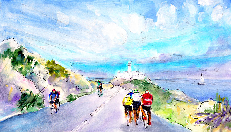 Cycling In Majorca 02 Painting