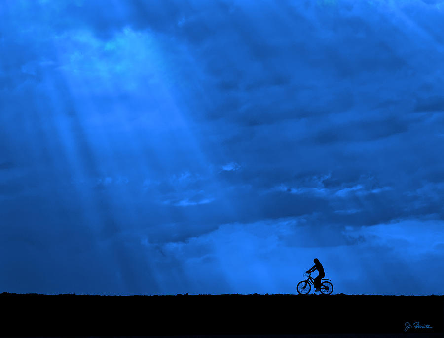 Cycling Into Sunrays No. 2 by Joe Bonita