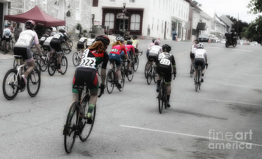 Cycling Photograph - Cycling Red  by Steven Digman