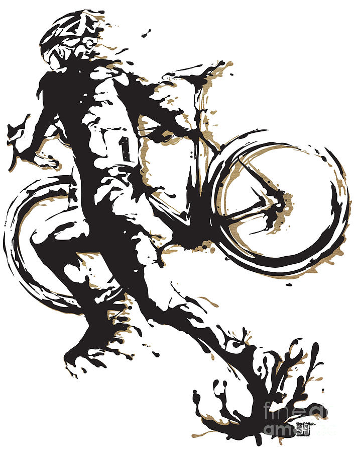 Cyclocross Painting - Cyclocross Poster1 by Sassan Filsoof