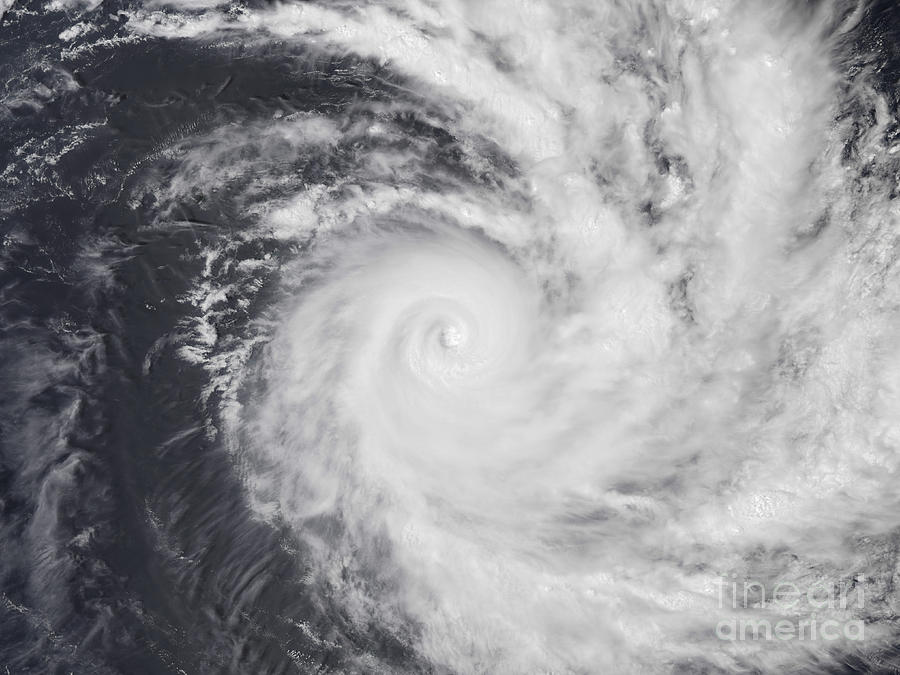 Circulating Photograph - Cyclone Zoe In The South Pacific Ocean by Stocktrek Images