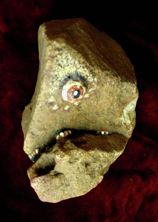 Stone Painting - Cyclops by Bill Meeker