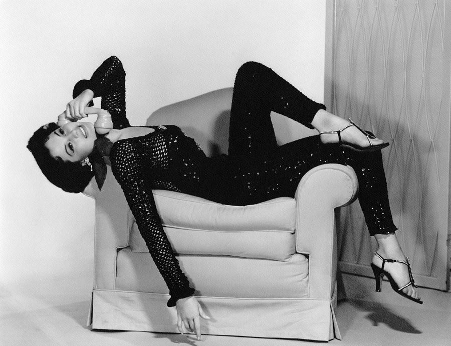 Armchair Photograph - Cyd Charisse, Ca. 1950s by Everett