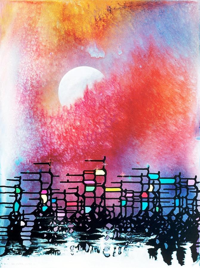 Spiritual Painting - Cydonia by Lee Pantas