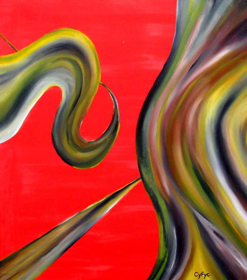 Abstract Painting - Cyfyc by Cyryn Fyrcyd