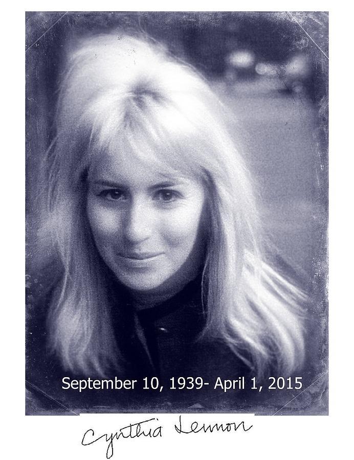 Cynthia Lennon Photograph - Cynthia Lennon by Allen Beilschmidt