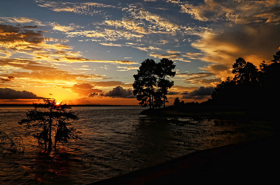 Many Louisiana Photograph - Cypress Bend Resort Sunset by Judy Vincent