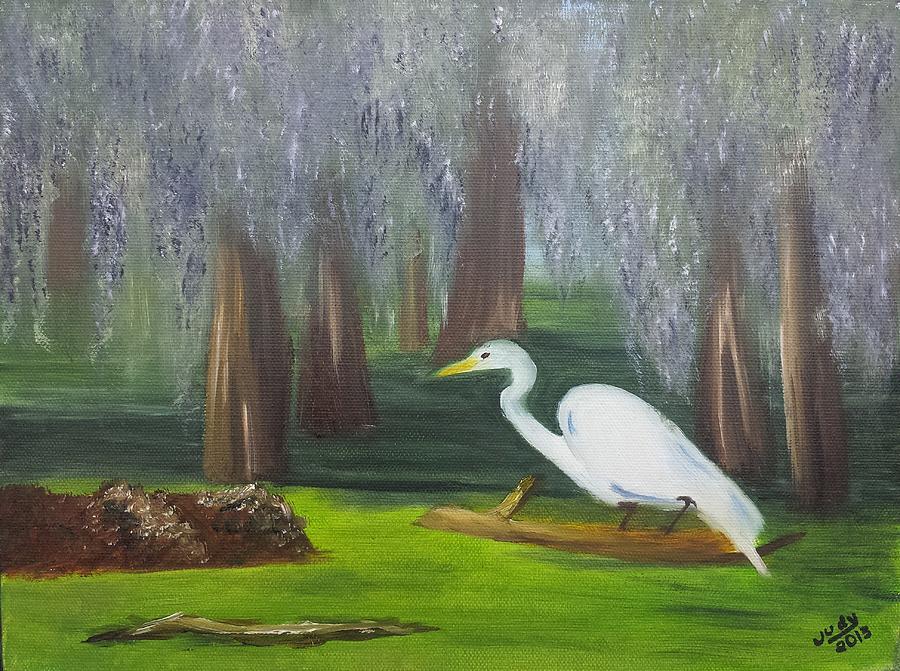 Cypress Getaway Painting