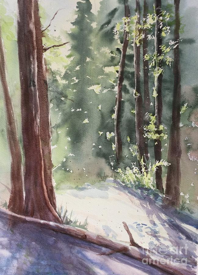 Forest Painting - Cypress Mt. by Yohana Knobloch