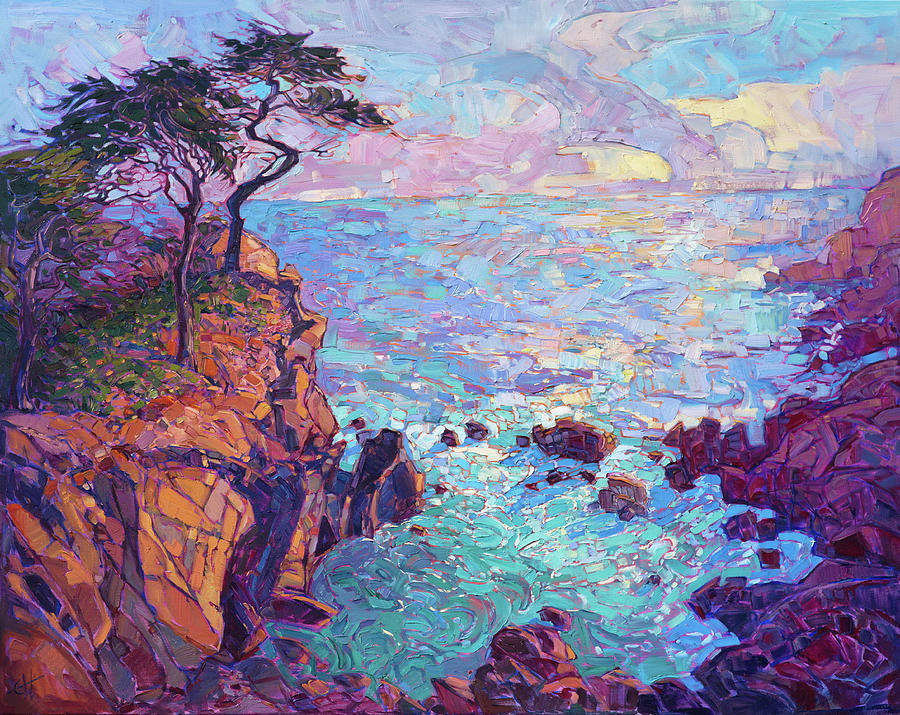 Monterey Painting - Cypress Vista by Erin Hanson