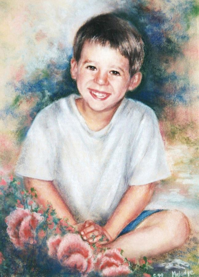 Pastel Portrait Painting - Cyrus by Melodye Whitaker