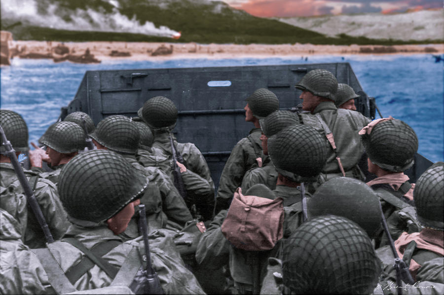 D-Day Landing Photograph by Brent Shavnore