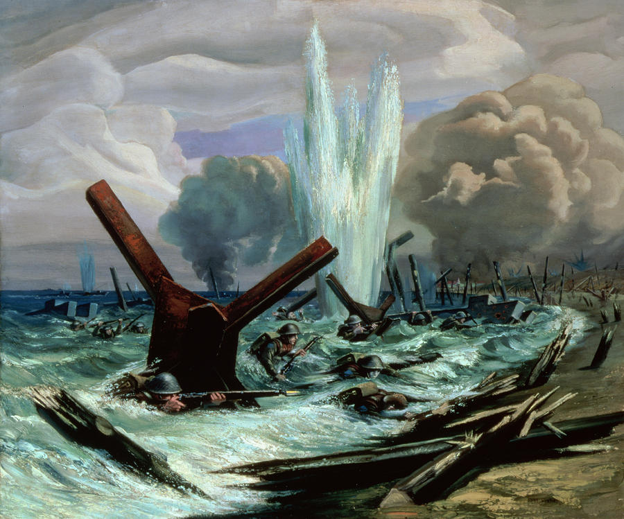 Wwii Painting - D Day by Orville Norman Fisher