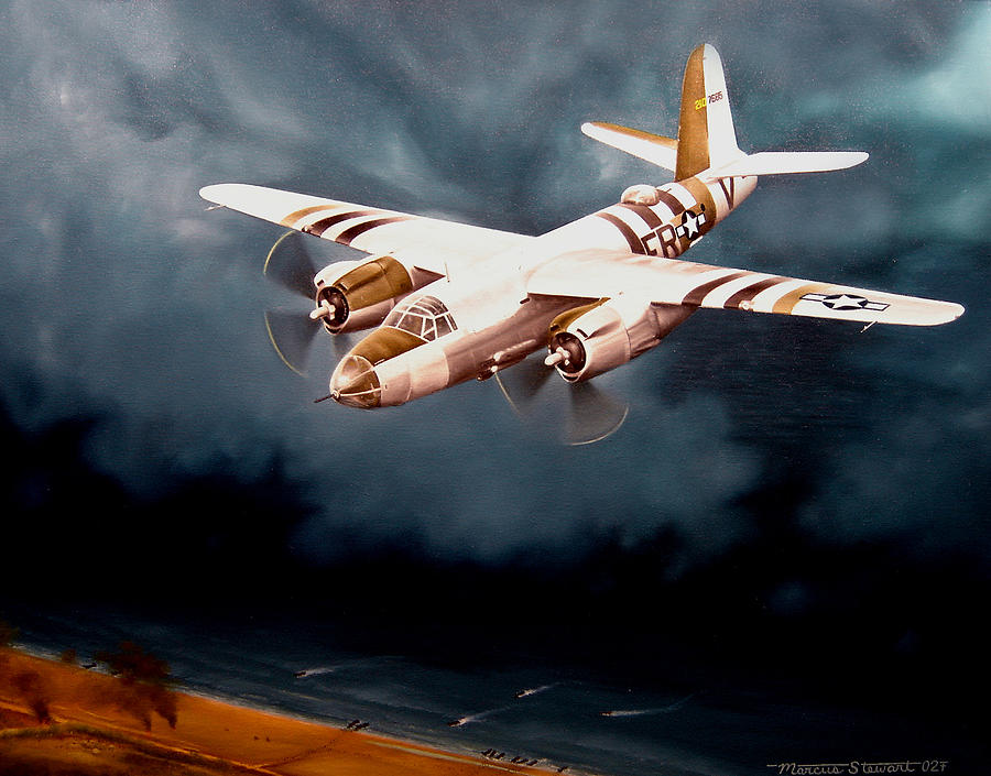 Military Painting - D-day Support by Marc Stewart