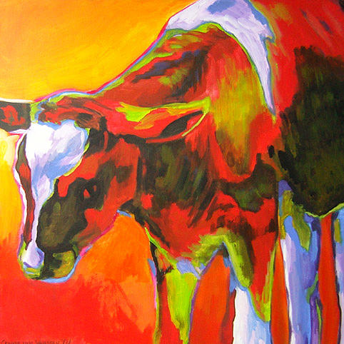 Calf Painting - D208 Calf by Connie Van Winssen