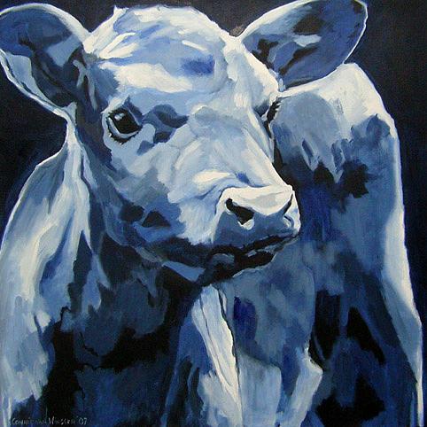Calf Painting - D211 Calf 2 by Connie Van Winssen