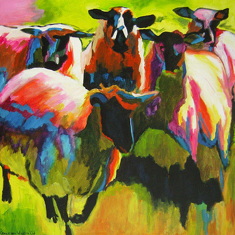 Sheep Painting - D232 Sheep 8 by Connie Van Winssen