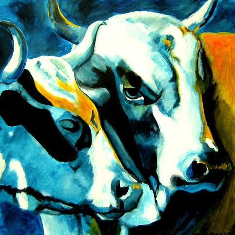 Cows Painting - D233 Cows 32 by Connie Van Winssen