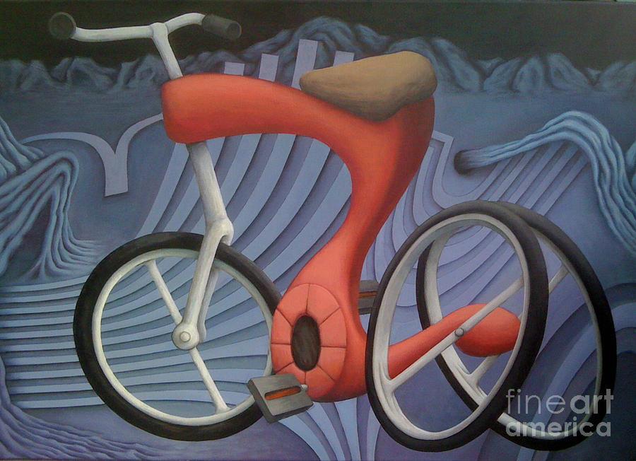 Da Bike Painting by Kevin J Graham